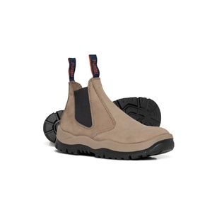 Mongrel  Under Elastic Sided Slip On Safety Boot Stone 240060