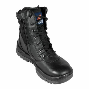 Mongrel Premium Series Black High Leg ZipSider Boot 251020