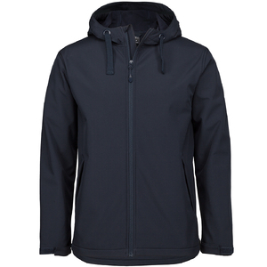 PDM WATER RESISTANT HOODED SOFTSHELL JACKET NAVY-5XL