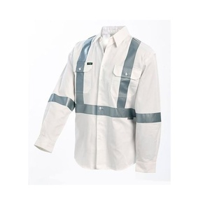 Workit 2019 W  White 3M Taped Night road workers Shirts with X pattern
