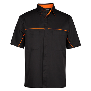 PODIUM INDUSTRY SHIRT   BLACK/ORANGE - 5XL