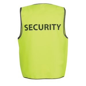 JB's HV SAFETY VEST PRINT  SECURITY 6HVS5