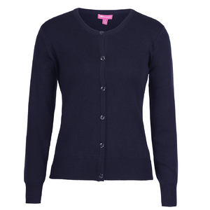 JB's LADIES CORPORATE CREW NECK CARDIGAN   NAVY - 24 6L1CN