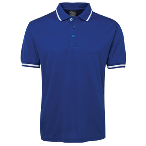 PODIUM BOLD POLO   ROYAL/WHITE-3XL