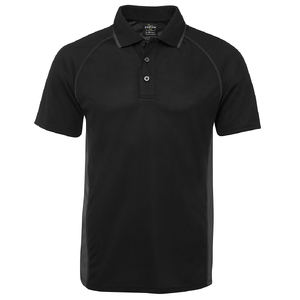 PDM COVER POLO BLACK/CHARCOAL - 5XL