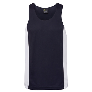 PODIUM C/TRAST SINGLET  NAVY/WHITE-3XL