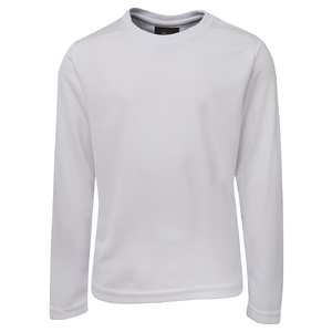 PODIUM  L/S POLY TEE  WHITE - 5XL