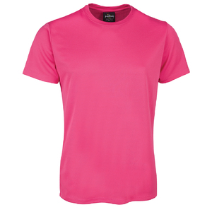 PODIUM  POLY TEE  HOT PINK - 5XL