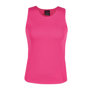 PDM LADIES POLY SINGLET HOT PINK -22