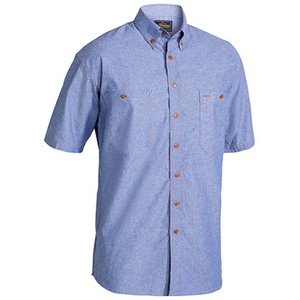 BISLEY  Chambray Shirt - Short Sleeve B71407