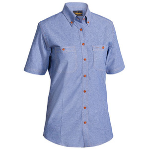 BISLEY  Womens Chambray Shirt - Short Sleeve B71407L