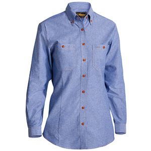 BISLEY  Womens Chambray Shirt - Long Sleeve B76407L