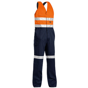 BISLEY 3M taped hi vis action back overall with hoop tape pattern and RHS cargo pocket.  BAB0359T
