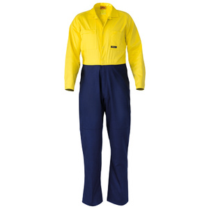 BISLEY  2 Tone Hi Vis Coveralls Regular Weight BC6357