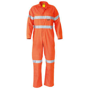 BISLEY  Hi Vis Lightweight Coveralls 3M Reflective Tape BC6718TW