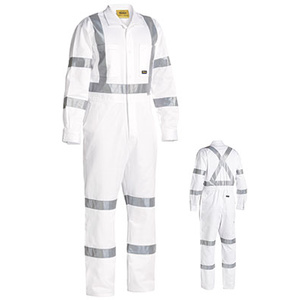 BISLEY  3M Taped White Drill Coverall BC6806T