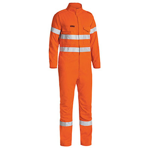 BISLEY  TenCate Tecasafe® Plus Taped Hi Vis FR Engineered Vented Coverall BC8085T