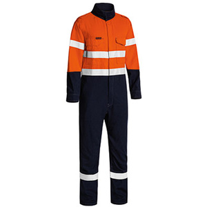 BISLEY  TenCate Tecasafe® Plus Taped 2 Tone Hi Vis FR lightweight Engineered Coverall BC8186T