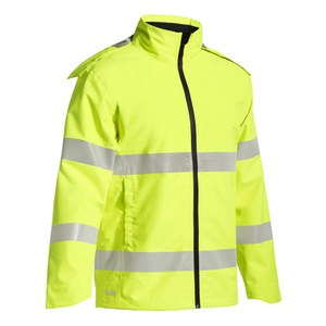 BISLEY  Taped Hi Vis Lightweight Ripstop Rain Jacket BJ6927T