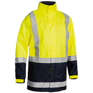 BISLEY  Two Tone Taped Hi Vis Rain Shell Jacket BJ6966T