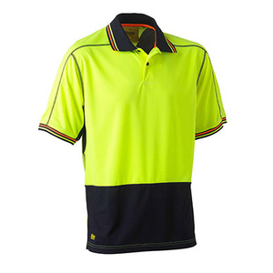 BISLEY Two tone hi vis polyester mesh short sleeve polo shirt BK1219_TT04