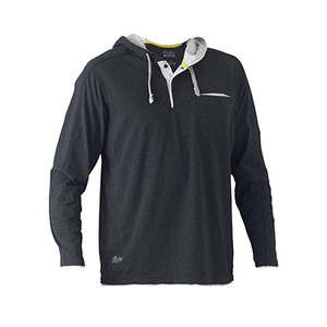 BISLEY Flex & Move™ Cotton Rich Hoodie Long Sleeve Tee BK6220
