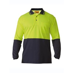 BISLEY  2 Tone Hi Vis Polo Shirt - Long Sleeve BK6234