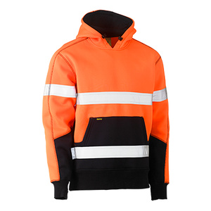 BISLEY Taped Hi Vis Two Tone Fleece Pullover Hoodie. BK6619T