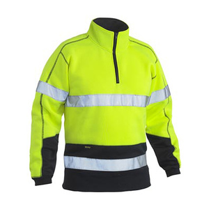 BISLEY Taped hi vis two tone fleece pullover with rib cuffs BK6989T