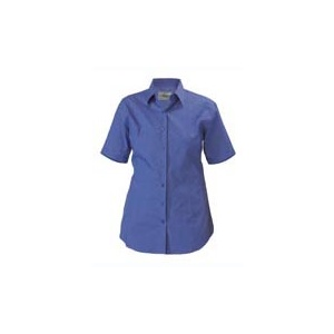 BISLEY  Womens Cross Dyed Shirt - Short Sleeve BL1646