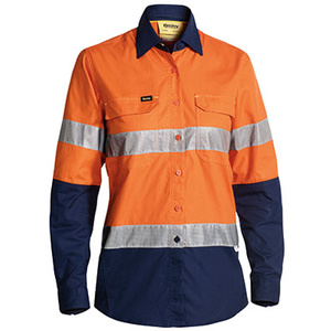BISLEY  Womens 3M Taped Hi Vis X Airflow™ Ripstop Shirt BL6415T