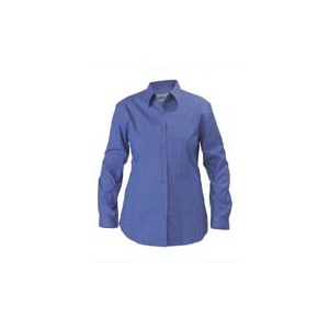 BISLEY  Womens Cross Dyed Shirt - Long Sleeve BL6646