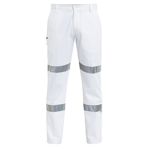 BISLEY  3M Taped Cotton Drill White Work Pant BP6808T