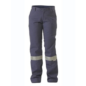 BISLEY  Womens Drill Pant 3M Reflective Tape BPL6007T