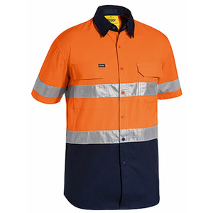 BISLEY  3M Taped Hi Vis X Airflow™ Ripstop Short Sleeve Shirt BS1415T