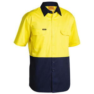 BISLEY  2 Tone Cool Lightweight Drill Shirt - Short Sleeve BS1895