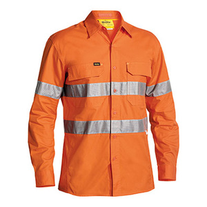BISLEY  3M Taped Hi Vis X Airflow™ Ripstop Shirt - Long Sleeve BS6416T