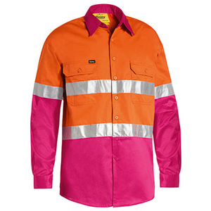 BISLEY  3M Taped Cool Hi Vis Lightweight Shirt BS6696T