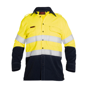 BISLEY  TenCate Tecasafe® Plus Taped 2 Tone Hi Vis FR Vented Long Sleeve Shirt BS8082T