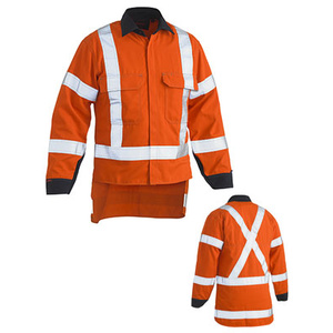 BISLEY TenCate Tecasafe® Plus TTMC-W X Taped Hi Vis FR Vented Long Sleeve Shirt. BS8349XT
