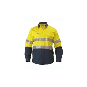 BISLEY  2 Tone Hi Vis Shirt 3M Reflective Tape - Long Sleeve BT6456
