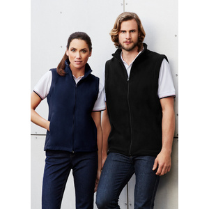BIZ COLLECTION Mens Plain Micro Fleece Vest F233MN