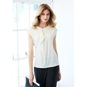 BIZ COLLECTION Ladies Mia Pleat Knit Top K624LS