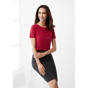 BIZ COLLECTION Ladies Ava Drape Knit Top K625LS