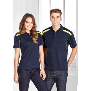 BIZ COLLECTION Mens United Short Sleeve Polo P244MS