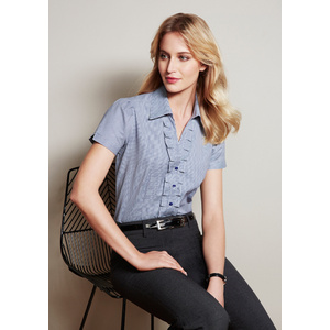 BIZ COLLECTION Ladies Edge Short Sleeve Shirt S267LS