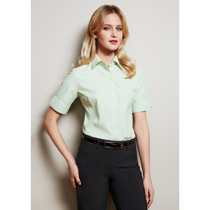 BIZ COLLECTION Ladies Ambassador Short Sleeve Shirt S29522
