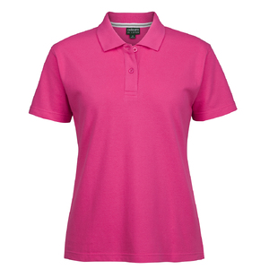 C OF C  LADIES PIQUE POLO  HOT PINK - 24