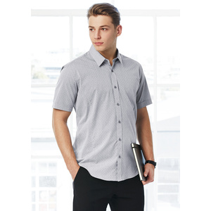 BIZ COLLECTION Mens Trend Short Sleeve Shirt S622MS