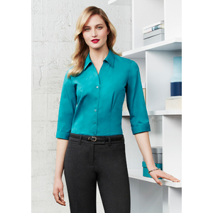 BIZ COLLECTION Ladies Monaco 3/4 Sleeve Shirt S770LT
